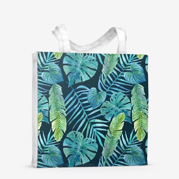 Сумка-шоппер «Акварельные тропики»