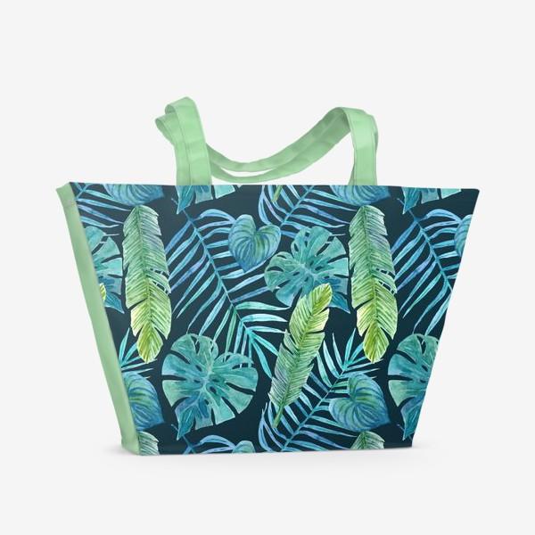 Пляжная сумка «Акварельные тропики»