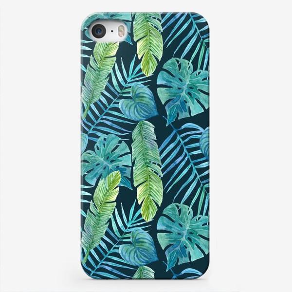 Чехол iPhone «Акварельные тропики»
