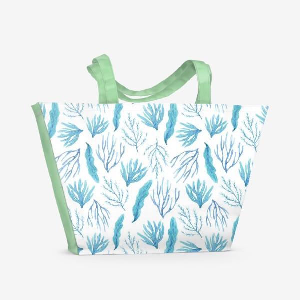 Пляжная сумка «Сине-зеленые водоросли»