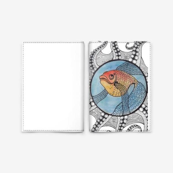 Обложка для паспорта «золотая рыбка»