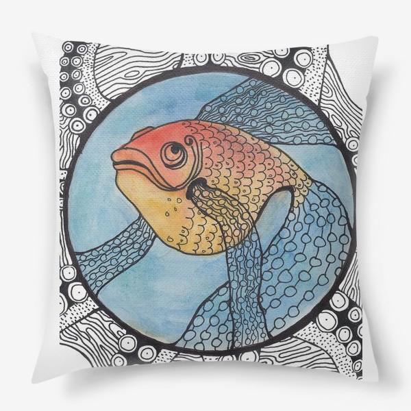Подушка «золотая рыбка»