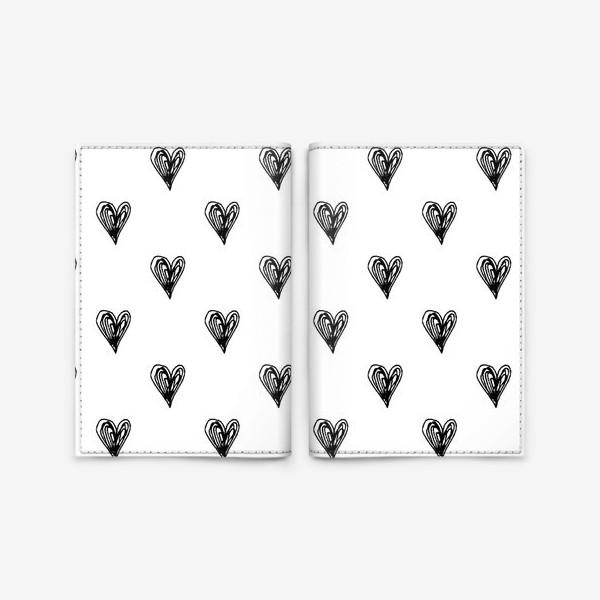 Обложка для паспорта «Сердечки»