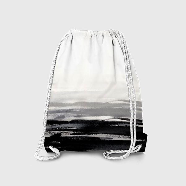 Рюкзак «Черно-белая акварель»