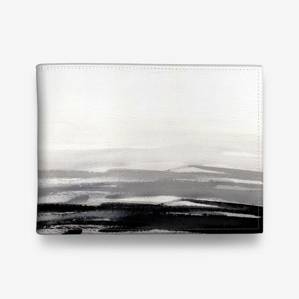 Кошелек «Черно-белая акварель»