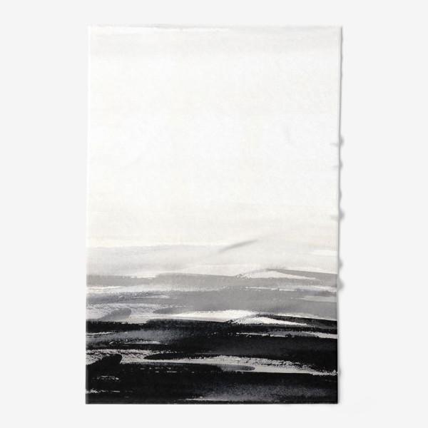 Полотенце «Черно-белая акварель»