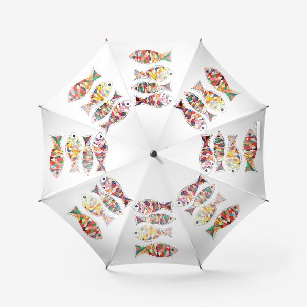 Зонт «четыре  рыбы»