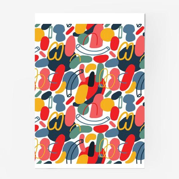 Постер «Яркий абстрактный геометрический паттерн»