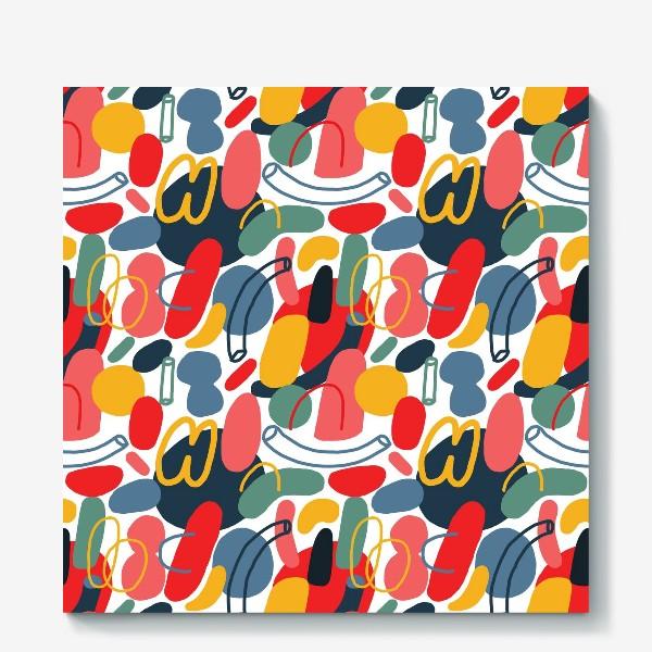 Холст «Яркий абстрактный геометрический паттерн»