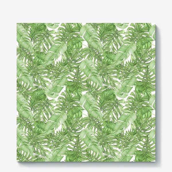 Холст «Тропическая зелень»