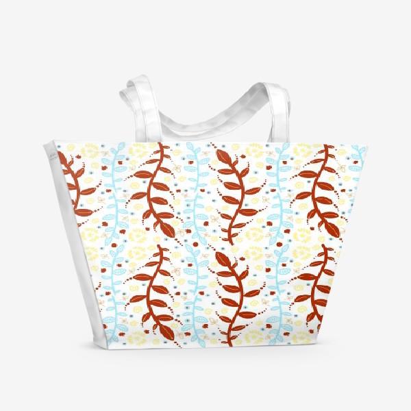 Пляжная сумка «Узор Осенние листья. »