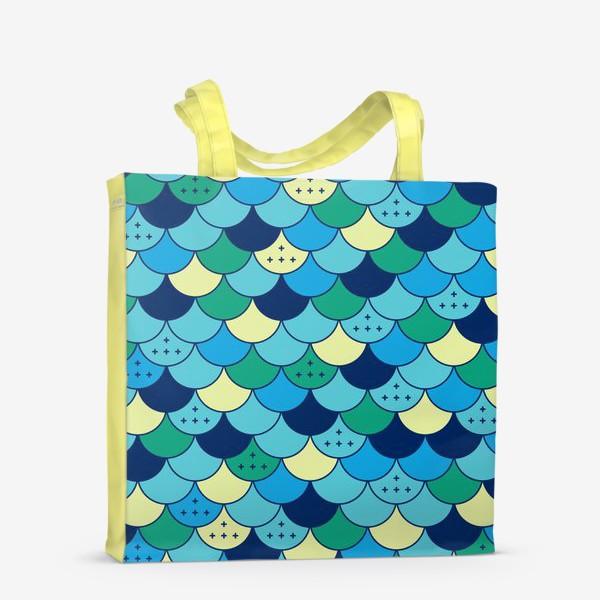 Сумка-шоппер «Кожа русалки»