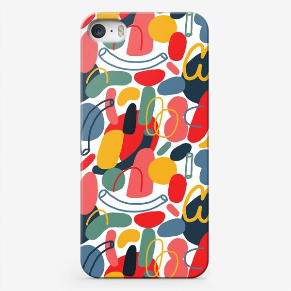 Чехол iPhone «Яркий абстрактный геометрический паттерн»