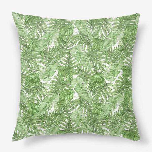 Подушка «Тропическая зелень»