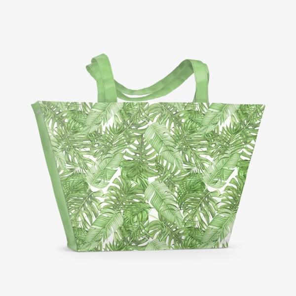Пляжная сумка «Тропическая зелень»