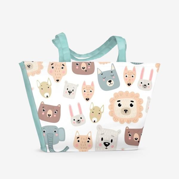 Пляжная сумка «милые зверята»