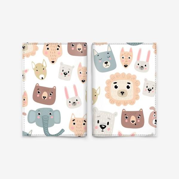 Обложка для паспорта «милые зверята»