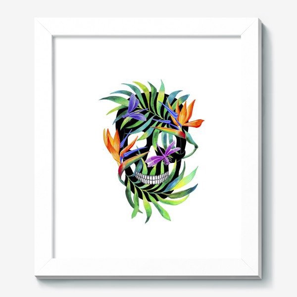 Картина «Череп с растениями»