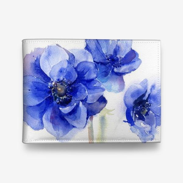 Кошелек «Синие цветы Анемоны»