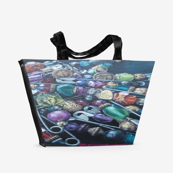 Пляжная сумка «Булавки»