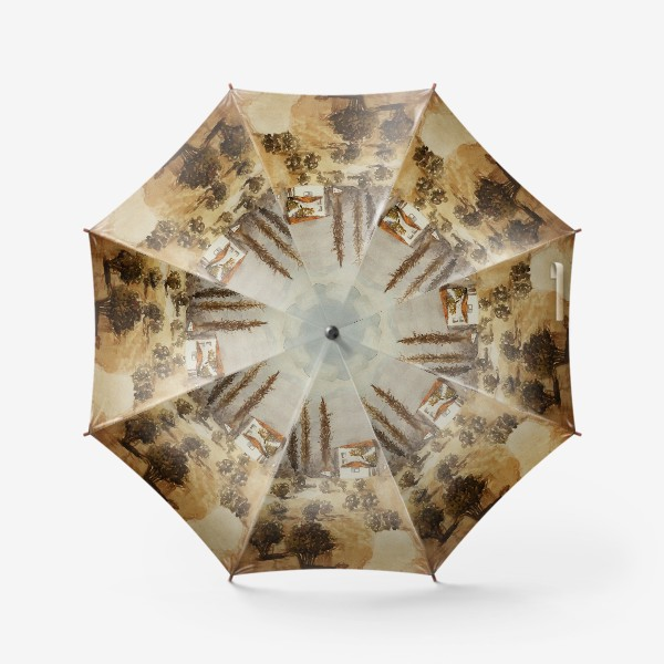 Зонт «Пасмурное утро. Пейзаж»