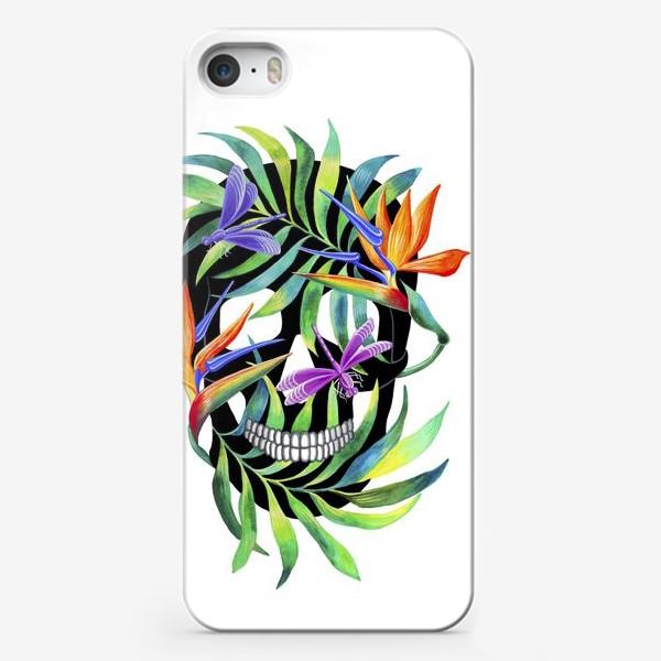 Чехол iPhone «Череп с растениями»