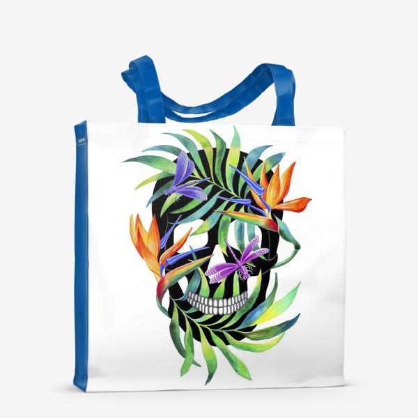 Сумка-шоппер «Череп с растениями»