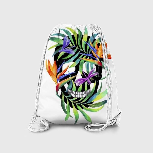 Рюкзак «Череп с растениями»