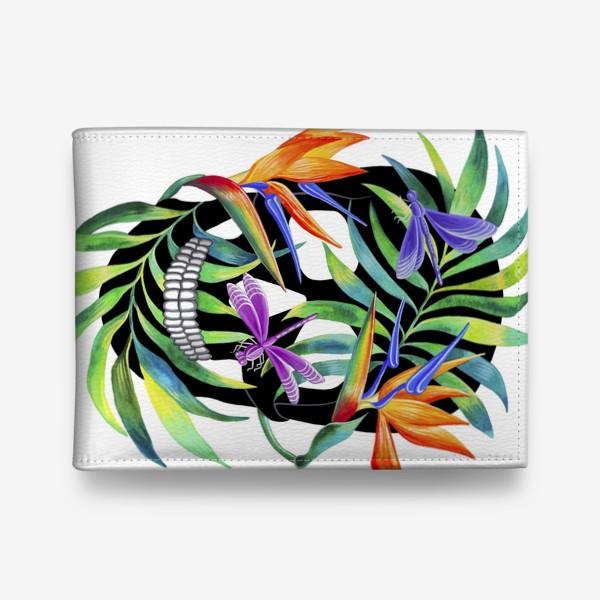 Кошелек «Череп с растениями»