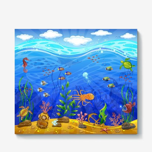 Холст «Подводный мир»