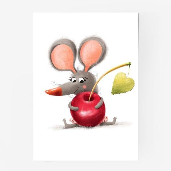 Постер «Мышка - вишенка»