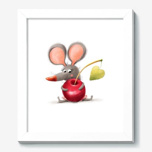 Картина «Мышка - вишенка»