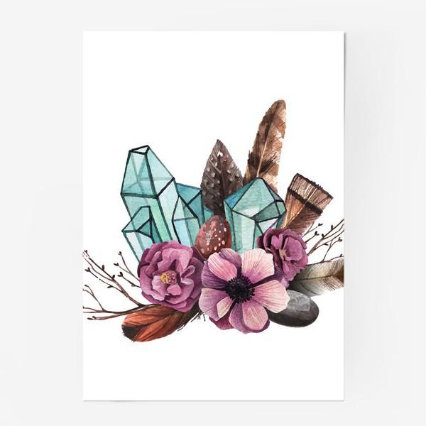 Постер «Цветы и Кристаллы»