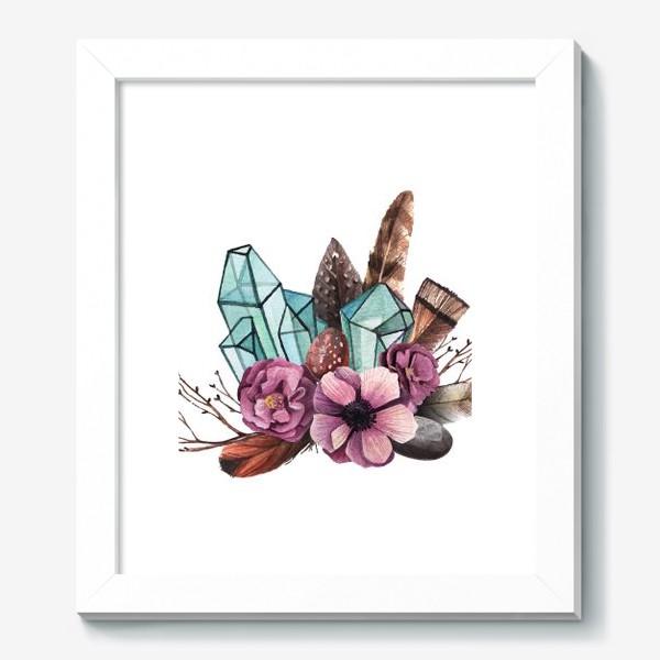 Картина «Цветы и Кристаллы»
