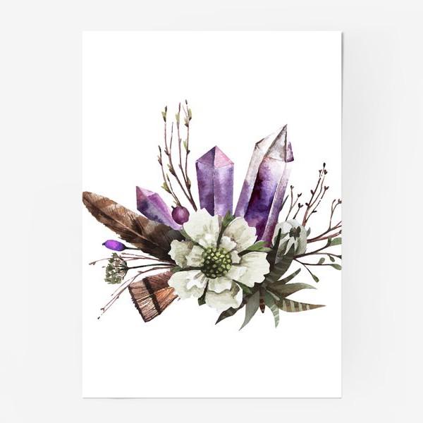 Постер «Кристаллы и цветы»