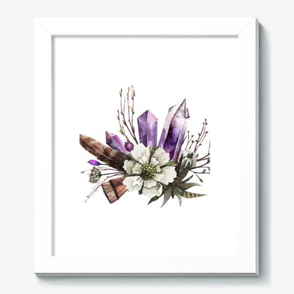 Картина «Кристаллы и цветы»