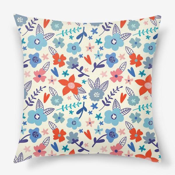 Подушка «Цветочные мотивы»