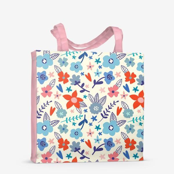 Сумка-шоппер «Цветочные мотивы»