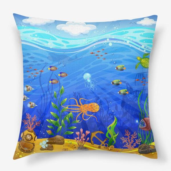 Подушка «Подводный мир»