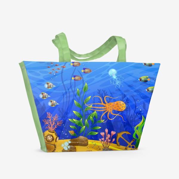 Пляжная сумка «Подводный мир»