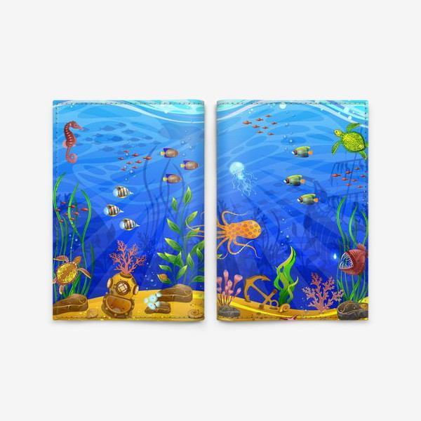 Обложка для паспорта «Подводный мир»