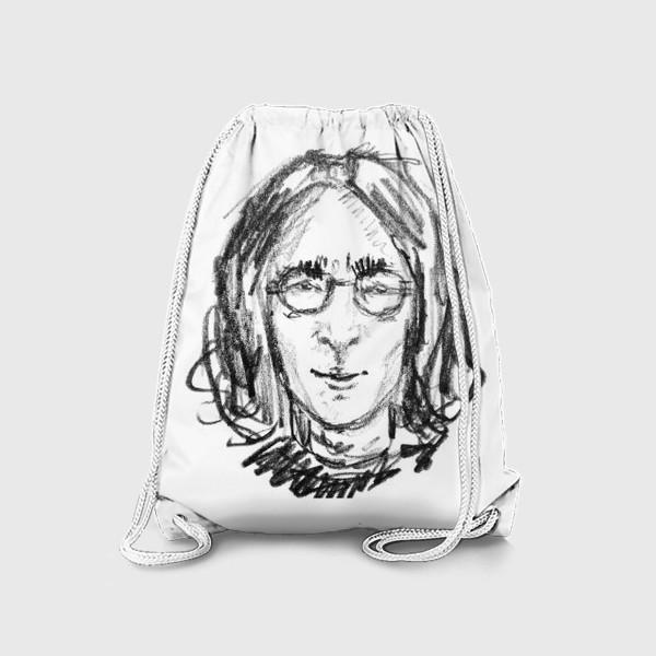 Рюкзак «Джон Леннон скетч портрет »