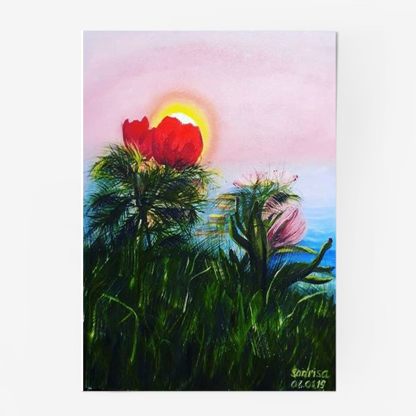 Постер «любование солнцем»