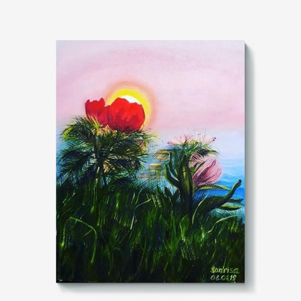 Холст «любование солнцем»
