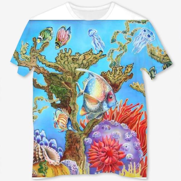 Футболка с полной запечаткой «Коралловый риф »