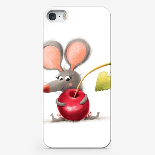 Чехол iPhone «Мышка - вишенка»