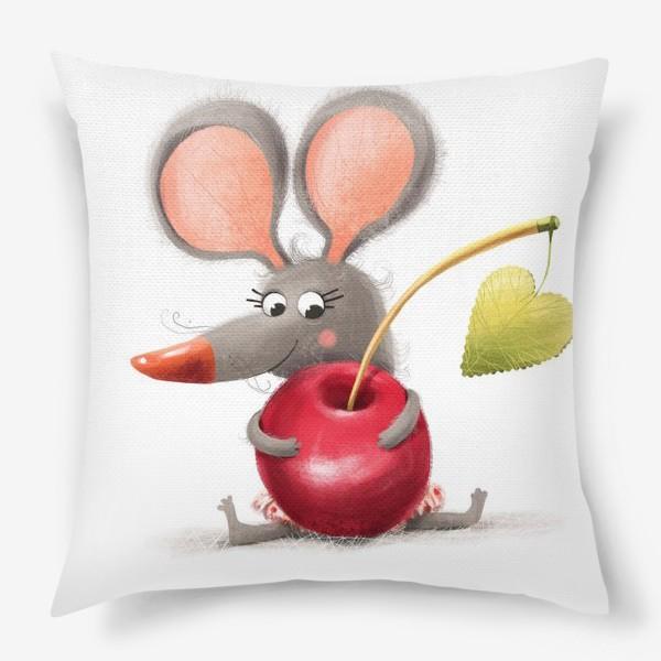 Подушка «Мышка - вишенка»