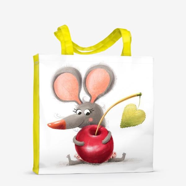 Сумка-шоппер «Мышка - вишенка»