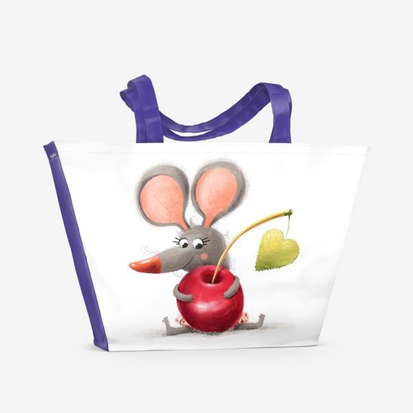 Пляжная сумка «Мышка - вишенка»
