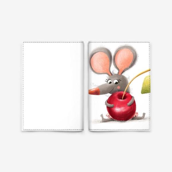 Обложка для паспорта «Мышка - вишенка»